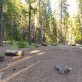 Looking across typical sites in Hole-in-the-Ground Campground.- Hole-in-the-Ground Campground
