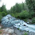 Mill Creek turns a corner at the Jasper Mines.- Hole-in-the-Ground Campground