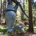 Well water is obtained by using this hand pump.- Hole-in-the-Ground Campground
