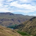 Columbia River from the Swakane Canyon Trail.- Swakane Canyon