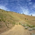 The Swakane Canyon Trail continues through the hills.- Swakane Canyon