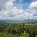 Viewpoint over the jungle looking toward 3,675-foot Victoria Peak.- Cockscomb Basin Wildlife Sanctuary + Jaguar Preserve