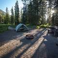 Morning at Altruas Lake.- Alturas Lake Inlet Campground