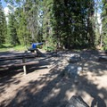 Double site at Altruas Lake Inlet Campground.- Alturas Lake Inlet Campground