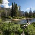 Alturas Lake Creek runs along side the campground.- Alturas Lake Inlet Campground