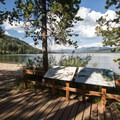The beach and day use area at Altruas Lake.- Alturas Lake Inlet Campground
