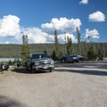 Trailer parking area at Smokey Bear Campground.- Smokey Bear Campground + Boat Launch