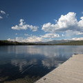 Boat launch on Alturas Lake.- Smokey Bear Campground + Boat Launch