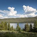 View of Altruas Lake.- Smokey Bear Campground + Boat Launch