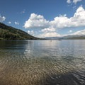 A designated swimming area at Altruas Lake.- Alturas Lake Inlet Day Use Area