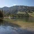 There is a boat launch at Smokey Bear Campground, but the beach is best at the day use area.- Alturas Lake Inlet Day Use Area
