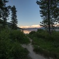 Watching the sunset over Alturas Lake.- Alturas Lake Inlet Day Use Area