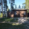 Restrooms at the day use area.- Alturas Lake Picnic + Day Use Area