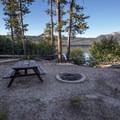 Picnic site on the lake.- Alturas Lake Picnic + Day Use Area