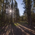 Morning at the day use area.- Alturas Lake Picnic + Day Use Area