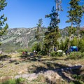 Tent-only camping area at Altruas Lake.- Alturas Lake Tent-Only Campsites
