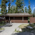 Restrooms at Chinook Bay Campground.- Chinook Bay Campground