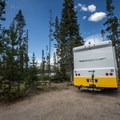 Typical site at Mountain View Campground.- Mountain View Campground