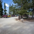 The parking area for the picnic area.- North Shore Day Use Area
