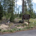 The entrance to Glacier View Campground.- Glacier View Campground, Redfish Lake