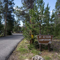 Mount Heyburn Campground is on the east side of the lake.- Mount Heyburn Campground