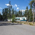Typical site at Sockeye Campground.- Sockeye Campground