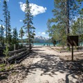 The day use beach at Outlet Campground.- Redfish Lake Outlet Campground