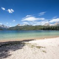 Redfish Lake with the Sawtooth Mountains in the distance.- Redfish Lake Outlet Day Use Area