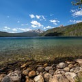 Redfish Lake from Point Campground.- Point Campground