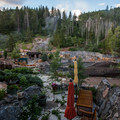 View of the hot springs in early morning.- Strawberry Hot Springs
