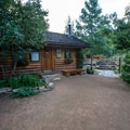 A small changing cabin is available for guests.- Strawberry Hot Springs