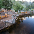 Early morning at the hot springs. - Strawberry Hot Springs