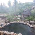 View from the upper pools.- Strawberry Hot Springs