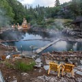The three main pools at Strawberry Hot Springs. - Strawberry Hot Springs