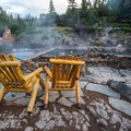 Lounge chairs await.- Strawberry Hot Springs