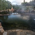 Early morning at the hot springs.- Strawberry Hot Springs