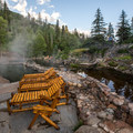 The springs are quite busy durning the day, but early morning solitude can be found for overnight visitors.- Strawberry Hot Springs
