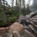 Back to the upper pools again.- Strawberry Hot Springs