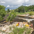 Yampa River's D-Hole in Steamboat Springs.- Yampa River, D-Hole