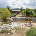 Tubers and boogie boarders enjoy playing in the hole.- Yampa River, D-Hole