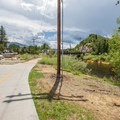 The multi-use trail follows the river through downtown Steamboat.- Yampa River Core Trail