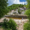 Relaxing at Charlie's Hole on the Yampa River.- Yampa River Core Trail