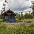 There are a few small cabins for rent at the park.- Steamboat Lake State Park
