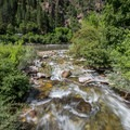 The confluence of Grizzly Creek and the Colorado River. - Grizzly Creek Trail
