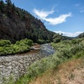 Calm waters on the river.- North Fork of the South Platte River