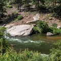 A small pool near the confluence of the rivers.- North Fork of the South Platte River