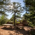 There are benches along the trail to stop and catch your breath.- Devils Head Lookout