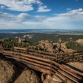 The view toward Denver from Devils Head Fire Lookout.- Devils Head Lookout