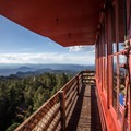 Devils Head Fire Lookout sits at 9,748 feet.- Devils Head Lookout