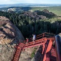 The famous 143 stairs.- Devil's Head Lookout